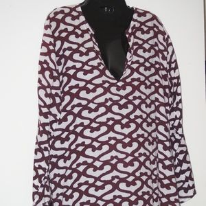 Roberta Roller Rabbit Brown Print Tunic M